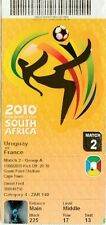 2010 WORLD CUP Opening Day Ticket, France v Uruguay (Cape Town)