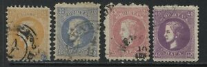 Serbia 1869 4 values to 40 paras used
