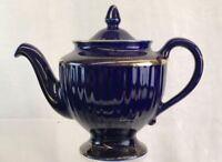Hall 6 Cup Tea Pot Royal Blue And Gold