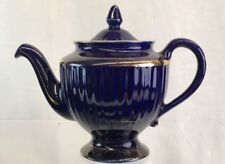 Hall 6 Cup Tea Pot Royal Blue And Gold