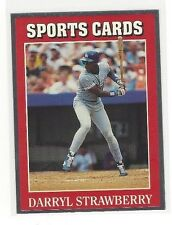 1991 ALLAN KAYES SPORTS CARD NEWS FOIL DARRYL STRAWBERRY #25 LOS ANGELES DODGERS