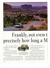 1989 Mercedes-Benz Car Brand Route 66 Double Page Vintage Print Advertisement