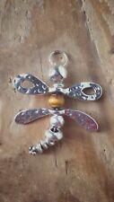 Handmade Medium Dragonfly Pendant With Tigers Eye Bead