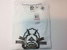 Men's Short Sleeve T-Shirt Lifted Research Group LRG White Graphics NWT XXXL 3XL