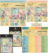 """Graphic 45 Fairie Wings NEW : Choose 12 x 12"""" Collection Pack or 8 x 8"""" Papers"""