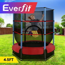 Everfit 4.5FT Trampoline Round Trampolines Kids Enclosure Outdoor Indoor Gift