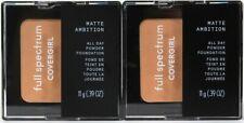 2 Covergirl 0.39 Oz Full Spectrum Matte Ambition FS170 Light Med Golden Powder
