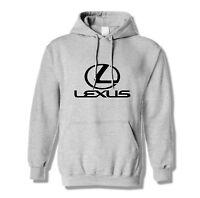 Hoodie Lexus Pullover Love Hooded Warm Auto Sweatshirt Grey Black Mechanic