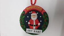 PERSONALISED SANTA CHRISTMAS TREE  DECORATION BAUBLE  ANY NAME *STOCKING FILLER*