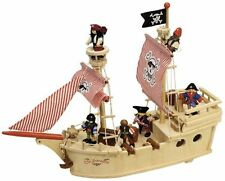 Tidlo Wooden Paragon Pirate Ship T-0094 from John Crane Toys