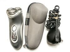 NICE PHILIPS NORELCO CORDLESS MEN'S ELECTRIC SHAVER 8140 XL W/ CORD + CASE F5.4
