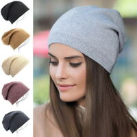 Men Women Winter Warm Thin Knitted Hat Stocking Cap Slouchy Beanie Hat