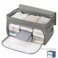 Collapsible Underbed Clothes Storage Boxes Bags Ziped Organizer Wardrobe Closet