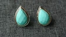 Faceted Turquoise Sterling Silver Earrings