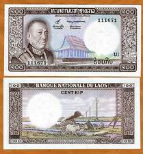 Lao / Laos, Kingdom, 100 Kip, ND (1974), P-16, UNC > King Savang in Uniform