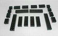 LEGO 2x2 2x3 2x4 2x6 2x8 2x10 schwarz LEGOcity Steine black basic brick
