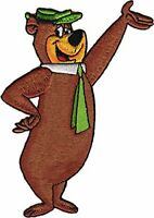 Decal Cartoon Kids Childs Childrens SE120 Yogi Bear Wave Waving STICKER