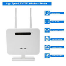 4G LTE Wifi Router 300 Mbp Outdoor Wireless CPE Router DC 5V With Sim Card Slot