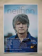 "NEIL FINN/Crowed House Live ""Dizzy Heights"" 2014 UK Tour. RARE Promo card flyer"