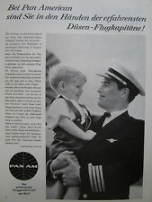 5/1961 PUB COMPAGNIE PAN AM FLUGKAPITANE CAPTAIN PILOT ORIGINAL GERMAN AD