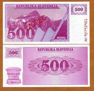 SPECIMEN, Slovenia, 500 (Tolarjev), 1992, P-8s1, UNC
