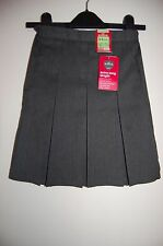 Grey Pleated School Skirt Marks and Spencer Age 3-4 Years Extra Long BNWT