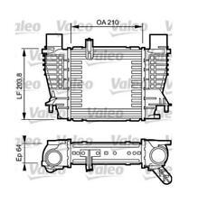 RADIATORE INTERCOOLER RENAULT CLIO III (05>) VALEO