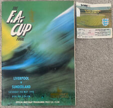 More details for liverpool v sunderland 1992 fa cup final with ticket
