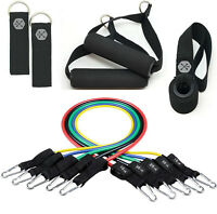 Resistance Bands Set, Workout Bands with Door Anchor, Handles and Ankle Straps