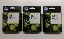 3 x HP originales 88xl cian c9391a OfficeJet pro l 7555 7550 7500 a OVP 2012
