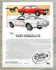 THE CLASSIC 1967 FORD MUSTANG PRODUCTION PONY CAR LITERATURE FACT SHEET 52