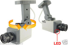 Dummy Fake Surveillance CCTV Security Camera w/ Flashing Red LED & Motion sensor