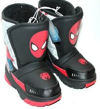 ULTIMATE SPIDER-MAN WINTER BOOTS SHOES TODDLER BOYS SZ 6 BLACK/RED SPIDERMAN
