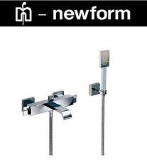 "Newform ""base"" 4040/C-21-018 W.M Bath & Shower Mixer w/HandShower & Hose NIB"