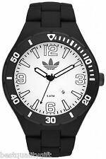 NEW-ADIDAS MELBOURNE OVERSIZED ACRYLIC MATTE BLACK+WHITE DIAL WATCH ADH2736+TAG