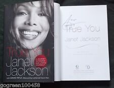 Janet Jackson signed book True You HC/DJ 1/1 Album Record Unbreakable Michael