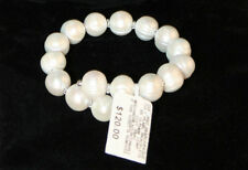 Cultured Freshwater Pearls / Pearl Wrap Cuff Bracelet / Sterling Silver / NWT