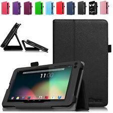 """For RCA Voyager 7"""" II III/RCA Voyager Pro 7 inch Tablet Leather Folio Case Cover"""