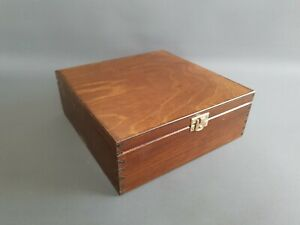 Brown Pine Wood Handmade Tea Bags 9 Compartments Storage Box Kitchen