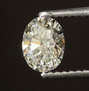 GIA loose certified .70ct VS2 I oval diamond Natural fancy cut estate antique