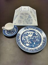 Churchill Blue Willow - England - 3 Piece Place Setting - Unused