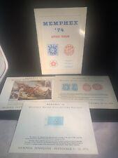 MEMPHEX 74 1974 Souvenir Program card Memphis local post stamp society reprint