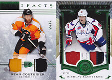 14-15 Artifacts Sean Couturier /75 Jersey Patch Emerald Flyers 2014