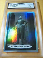 SUPERMAN METROPOLIS' HERO 2013 TOPPS 75TH ANNIVERSARY RAINBOW # 45 GRADED 10