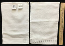 Hand Towel Fingers Wash Cloth White 100% Cotton Natori Embroidered Logo Line 12""