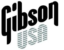 Gibson USA Decal Logo Sticker for Guitar Hard Case, Amp Cab, Wall Art, Window
