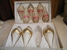 9 Beautiful Vintage Christmas Classic Ornaments Made in Rominia for Commordore