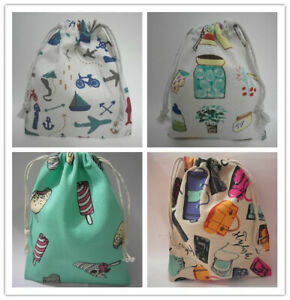 Cotton Drawstring Small Bag Storage Travel Packaging Pouch Purse-4 Pattern