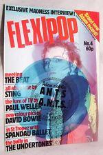 Flexipop #4 w/ Adam &The Ants Flexi-Disc! M/NrM1980 Bowie Madness Spandau Ballet