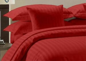 Attached Waterbed Sheets 1000 Count Red Striped Egyptian Cotton Sheets